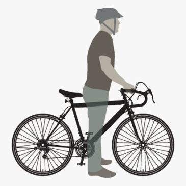 Qual tamanho de Bicicleta é o adequado para mim?