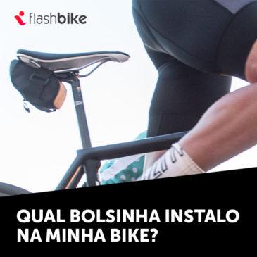 Qual bolsinha instalo na minha bike?