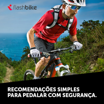 Recomendações simples para pedalar com segurança.